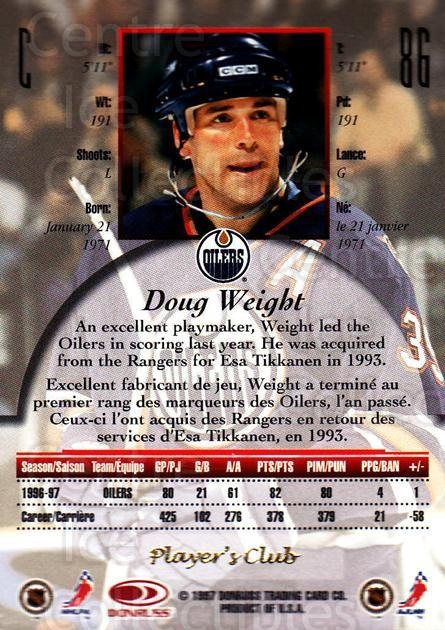 1997-98 Canadian Ice Provincial Player's Club #86 Doug Weight<br/>1 In Stock - $10.00 each - <a href=https://centericecollectibles.foxycart.com/cart?name=1997-98%20Canadian%20Ice%20Provincial%20Player's%20Club%20%2386%20Doug%20Weight...&quantity_max=1&price=$10.00&code=662173 class=foxycart> Buy it now! </a>