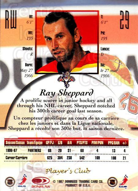 1997-98 Canadian Ice Provincial Player's Club #29 Ray Sheppard<br/>1 In Stock - $10.00 each - <a href=https://centericecollectibles.foxycart.com/cart?name=1997-98%20Canadian%20Ice%20Provincial%20Player's%20Club%20%2329%20Ray%20Sheppard...&quantity_max=1&price=$10.00&code=662188 class=foxycart> Buy it now! </a>