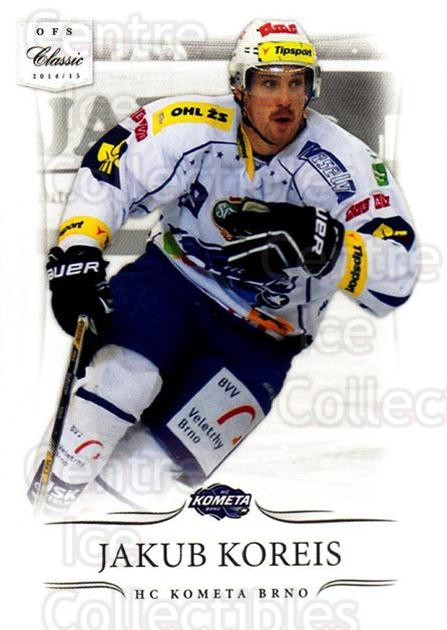 2014-15 Czech OFS Classic #314 Jakub Koreis<br/>2 In Stock - $2.00 each - <a href=https://centericecollectibles.foxycart.com/cart?name=2014-15%20Czech%20OFS%20Classic%20%23314%20Jakub%20Koreis...&quantity_max=2&price=$2.00&code=662452 class=foxycart> Buy it now! </a>