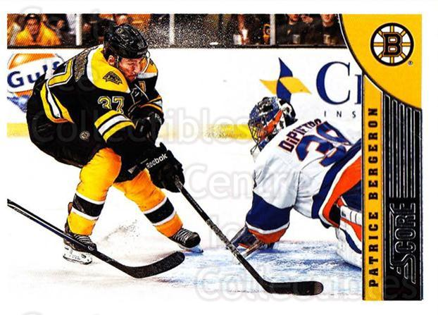 2013-14 Score #20 Patrice Bergeron<br/>3 In Stock - $2.00 each - <a href=https://centericecollectibles.foxycart.com/cart?name=2013-14%20Score%20%2320%20Patrice%20Bergero...&quantity_max=3&price=$2.00&code=662558 class=foxycart> Buy it now! </a>