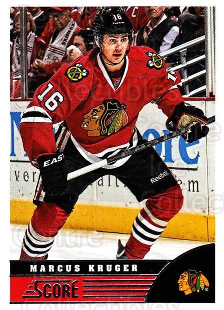 2013-14 Score #104 Marcus Kruger<br/>3 In Stock - $1.00 each - <a href=https://centericecollectibles.foxycart.com/cart?name=2013-14%20Score%20%23104%20Marcus%20Kruger...&quantity_max=3&price=$1.00&code=662642 class=foxycart> Buy it now! </a>