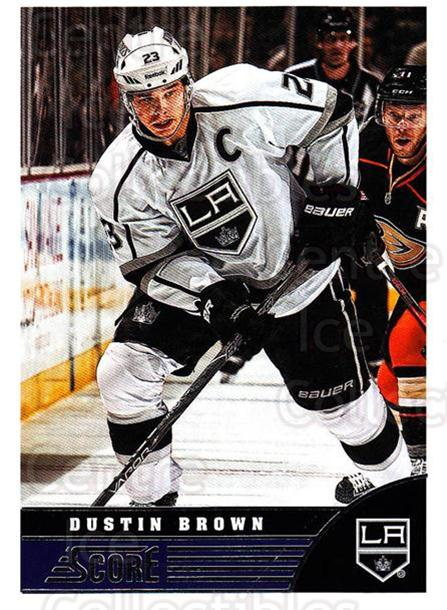 2013-14 Score #218 Dustin Brown<br/>4 In Stock - $1.00 each - <a href=https://centericecollectibles.foxycart.com/cart?name=2013-14%20Score%20%23218%20Dustin%20Brown...&quantity_max=4&price=$1.00&code=662756 class=foxycart> Buy it now! </a>
