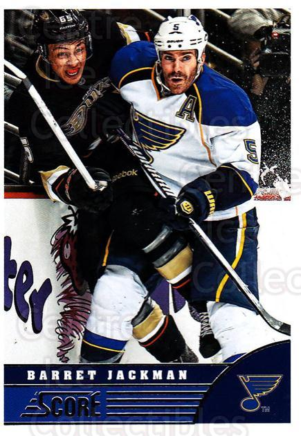 2013-14 Score #444 Barret Jackman<br/>3 In Stock - $1.00 each - <a href=https://centericecollectibles.foxycart.com/cart?name=2013-14%20Score%20%23444%20Barret%20Jackman...&quantity_max=3&price=$1.00&code=662982 class=foxycart> Buy it now! </a>