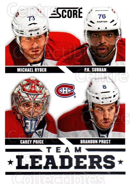 2013-14 Score #565 Carey Price, PK Subban, Brandon Prust, Michael Ryder<br/>1 In Stock - $2.00 each - <a href=https://centericecollectibles.foxycart.com/cart?name=2013-14%20Score%20%23565%20Carey%20Price,%20PK...&price=$2.00&code=663103 class=foxycart> Buy it now! </a>