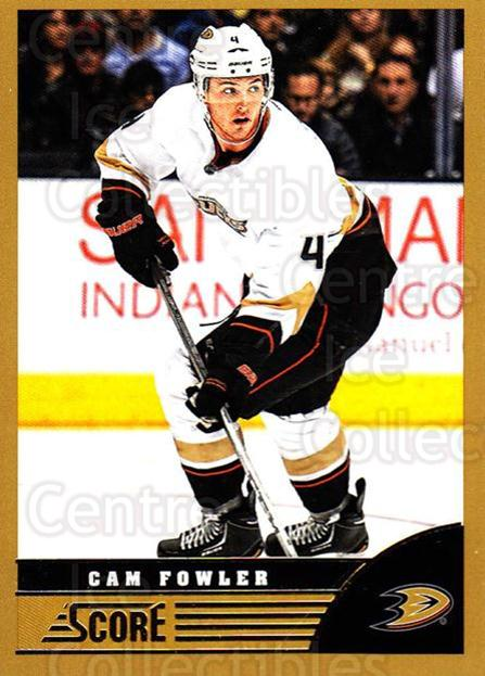 2013-14 Score Gold #6 Cam Fowler<br/>1 In Stock - $1.00 each - <a href=https://centericecollectibles.foxycart.com/cart?name=2013-14%20Score%20Gold%20%236%20Cam%20Fowler...&price=$1.00&code=663324 class=foxycart> Buy it now! </a>