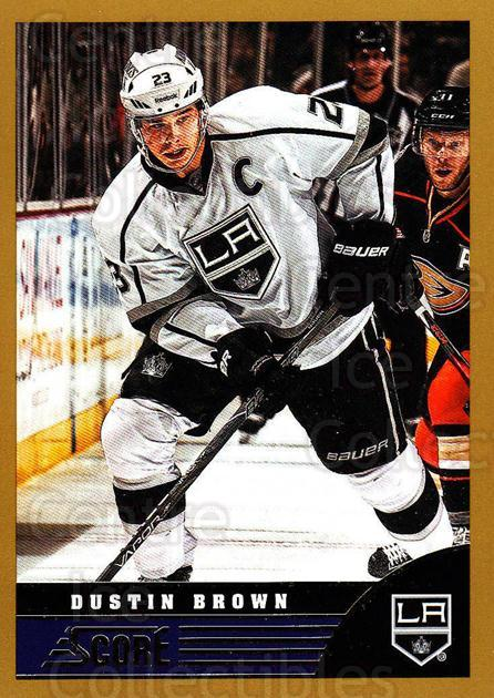 2013-14 Score Gold #218 Dustin Brown<br/>2 In Stock - $1.00 each - <a href=https://centericecollectibles.foxycart.com/cart?name=2013-14%20Score%20Gold%20%23218%20Dustin%20Brown...&quantity_max=2&price=$1.00&code=663536 class=foxycart> Buy it now! </a>