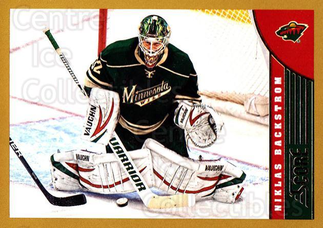 2013-14 Score Gold #239 Niklas Backstrom<br/>2 In Stock - $1.00 each - <a href=https://centericecollectibles.foxycart.com/cart?name=2013-14%20Score%20Gold%20%23239%20Niklas%20Backstro...&quantity_max=2&price=$1.00&code=663557 class=foxycart> Buy it now! </a>