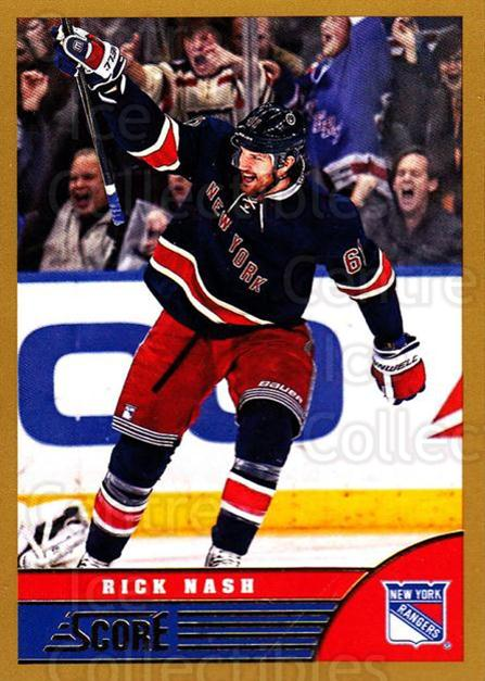 2013-14 Score Gold #329 Rick Nash<br/>1 In Stock - $1.00 each - <a href=https://centericecollectibles.foxycart.com/cart?name=2013-14%20Score%20Gold%20%23329%20Rick%20Nash...&quantity_max=1&price=$1.00&code=663647 class=foxycart> Buy it now! </a>
