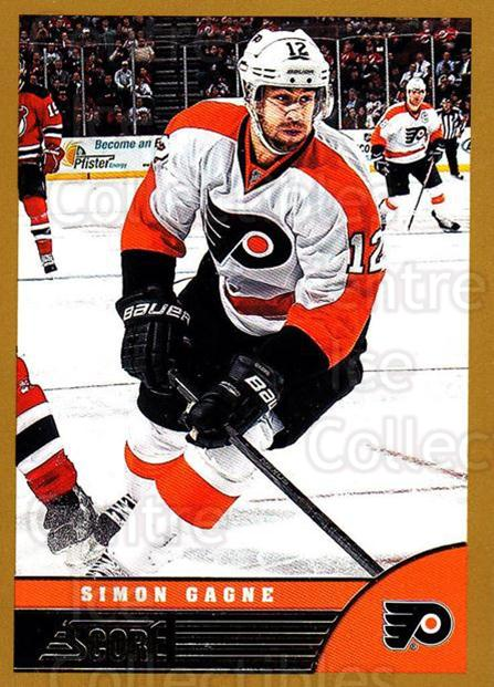 2013-14 Score Gold #380 Simon Gagne<br/>1 In Stock - $1.00 each - <a href=https://centericecollectibles.foxycart.com/cart?name=2013-14%20Score%20Gold%20%23380%20Simon%20Gagne...&quantity_max=1&price=$1.00&code=663698 class=foxycart> Buy it now! </a>
