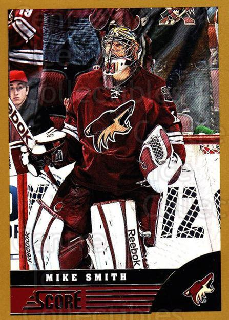 2013-14 Score Gold #384 Mike Smith<br/>2 In Stock - $1.00 each - <a href=https://centericecollectibles.foxycart.com/cart?name=2013-14%20Score%20Gold%20%23384%20Mike%20Smith...&quantity_max=2&price=$1.00&code=663702 class=foxycart> Buy it now! </a>