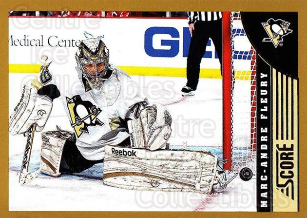 2013-14 Score Gold #401 Marc-Andre Fleury<br/>2 In Stock - $2.00 each - <a href=https://centericecollectibles.foxycart.com/cart?name=2013-14%20Score%20Gold%20%23401%20Marc-Andre%20Fleu...&quantity_max=2&price=$2.00&code=663719 class=foxycart> Buy it now! </a>