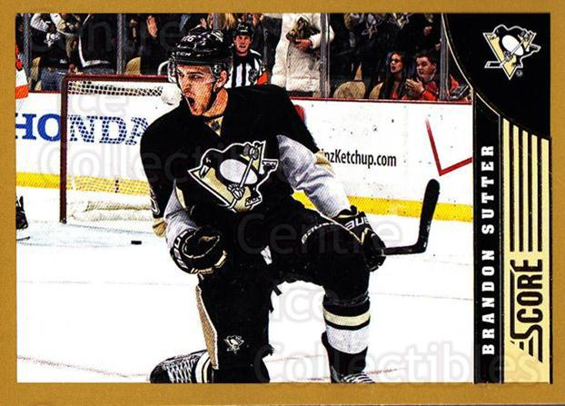 2013-14 Score Gold #410 Brandon Sutter<br/>1 In Stock - $1.00 each - <a href=https://centericecollectibles.foxycart.com/cart?name=2013-14%20Score%20Gold%20%23410%20Brandon%20Sutter...&price=$1.00&code=663728 class=foxycart> Buy it now! </a>