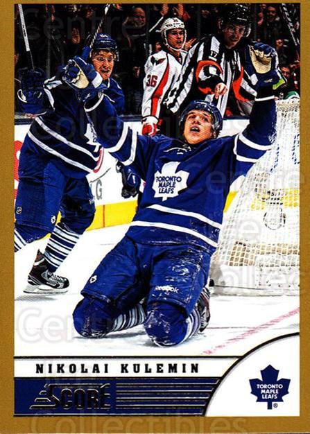 2013-14 Score Gold #483 Nikolai Kulemin<br/>2 In Stock - $1.00 each - <a href=https://centericecollectibles.foxycart.com/cart?name=2013-14%20Score%20Gold%20%23483%20Nikolai%20Kulemin...&quantity_max=2&price=$1.00&code=663801 class=foxycart> Buy it now! </a>