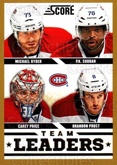 2013-14 Score Gold #565 Carey Price, PK Subban, Brandon Prust, Michael Ryder<br/>1 In Stock - $3.00 each - <a href=https://centericecollectibles.foxycart.com/cart?name=2013-14%20Score%20Gold%20%23565%20Carey%20Price,%20PK...&quantity_max=1&price=$3.00&code=663883 class=foxycart> Buy it now! </a>