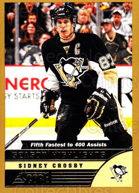 2013-14 Score Gold #589 Sidney Crosby<br/>1 In Stock - $5.00 each - <a href=https://centericecollectibles.foxycart.com/cart?name=2013-14%20Score%20Gold%20%23589%20Sidney%20Crosby...&quantity_max=1&price=$5.00&code=663907 class=foxycart> Buy it now! </a>