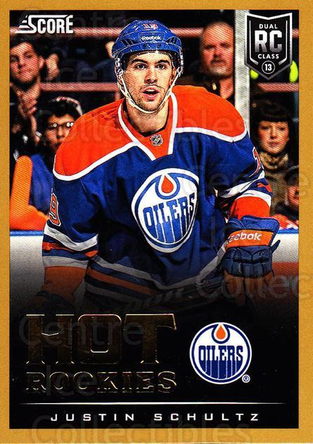 2013-14 Score Gold #642 Justin Schultz<br/>3 In Stock - $3.00 each - <a href=https://centericecollectibles.foxycart.com/cart?name=2013-14%20Score%20Gold%20%23642%20Justin%20Schultz...&quantity_max=3&price=$3.00&code=663960 class=foxycart> Buy it now! </a>