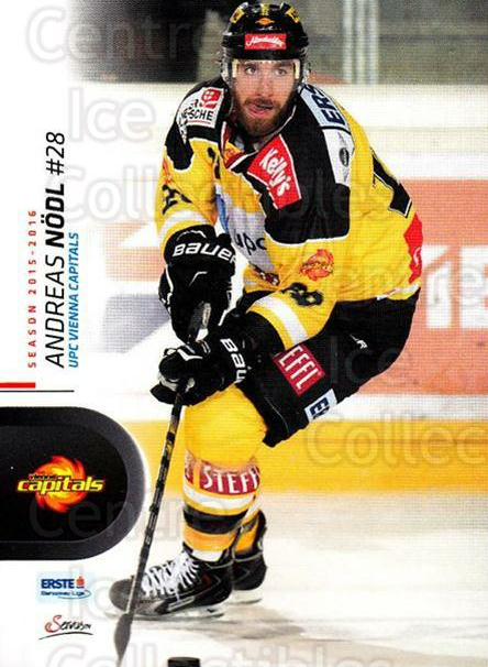 2015-16 Erste Bank Eishockey Liga EBEL #28 Andreas Nodl<br/>2 In Stock - $2.00 each - <a href=https://centericecollectibles.foxycart.com/cart?name=2015-16%20Erste%20Bank%20Eishockey%20Liga%20EBEL%20%2328%20Andreas%20Nodl...&quantity_max=2&price=$2.00&code=664520 class=foxycart> Buy it now! </a>