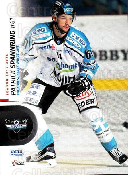 2015-16 Erste Bank Eishockey Liga EBEL #39 Patrick Spannring<br/>3 In Stock - $2.00 each - <a href=https://centericecollectibles.foxycart.com/cart?name=2015-16%20Erste%20Bank%20Eishockey%20Liga%20EBEL%20%2339%20Patrick%20Spannri...&quantity_max=3&price=$2.00&code=664531 class=foxycart> Buy it now! </a>