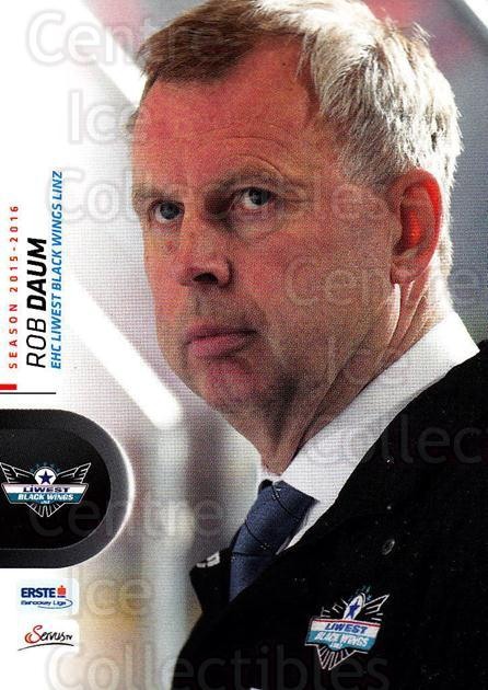 2015-16 Erste Bank Eishockey Liga EBEL #44 Rob Daum<br/>1 In Stock - $2.00 each - <a href=https://centericecollectibles.foxycart.com/cart?name=2015-16%20Erste%20Bank%20Eishockey%20Liga%20EBEL%20%2344%20Rob%20Daum...&quantity_max=1&price=$2.00&code=664536 class=foxycart> Buy it now! </a>