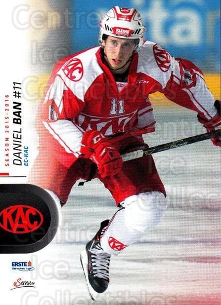 2015-16 Erste Bank Eishockey Liga EBEL #55 Daniel Ban<br/>3 In Stock - $2.00 each - <a href=https://centericecollectibles.foxycart.com/cart?name=2015-16%20Erste%20Bank%20Eishockey%20Liga%20EBEL%20%2355%20Daniel%20Ban...&quantity_max=3&price=$2.00&code=664547 class=foxycart> Buy it now! </a>