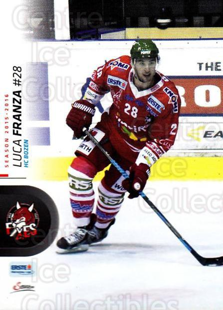 2015-16 Erste Bank Eishockey Liga EBEL #65 Luca Franza<br/>2 In Stock - $2.00 each - <a href=https://centericecollectibles.foxycart.com/cart?name=2015-16%20Erste%20Bank%20Eishockey%20Liga%20EBEL%20%2365%20Luca%20Franza...&quantity_max=2&price=$2.00&code=664557 class=foxycart> Buy it now! </a>