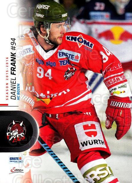 2015-16 Erste Bank Eishockey Liga EBEL #67 Daniel Frank<br/>3 In Stock - $2.00 each - <a href=https://centericecollectibles.foxycart.com/cart?name=2015-16%20Erste%20Bank%20Eishockey%20Liga%20EBEL%20%2367%20Daniel%20Frank...&quantity_max=3&price=$2.00&code=664559 class=foxycart> Buy it now! </a>