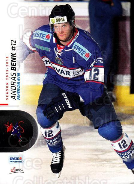 2015-16 Erste Bank Eishockey Liga EBEL #82 Andras Benk<br/>3 In Stock - $2.00 each - <a href=https://centericecollectibles.foxycart.com/cart?name=2015-16%20Erste%20Bank%20Eishockey%20Liga%20EBEL%20%2382%20Andras%20Benk...&quantity_max=3&price=$2.00&code=664574 class=foxycart> Buy it now! </a>