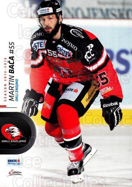 2015-16 Erste Bank Eishockey Liga EBEL #94 Martin Baca<br/>3 In Stock - $2.00 each - <a href=https://centericecollectibles.foxycart.com/cart?name=2015-16%20Erste%20Bank%20Eishockey%20Liga%20EBEL%20%2394%20Martin%20Baca...&quantity_max=3&price=$2.00&code=664586 class=foxycart> Buy it now! </a>