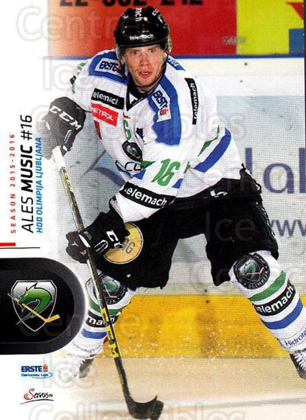 2015-16 Erste Bank Eishockey Liga EBEL #170 Ales Music<br/>3 In Stock - $2.00 each - <a href=https://centericecollectibles.foxycart.com/cart?name=2015-16%20Erste%20Bank%20Eishockey%20Liga%20EBEL%20%23170%20Ales%20Music...&quantity_max=3&price=$2.00&code=664662 class=foxycart> Buy it now! </a>