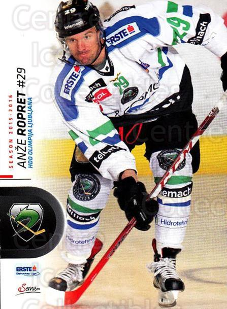 2015-16 Erste Bank Eishockey Liga EBEL #171 Anze Ropret<br/>3 In Stock - $2.00 each - <a href=https://centericecollectibles.foxycart.com/cart?name=2015-16%20Erste%20Bank%20Eishockey%20Liga%20EBEL%20%23171%20Anze%20Ropret...&quantity_max=3&price=$2.00&code=664663 class=foxycart> Buy it now! </a>