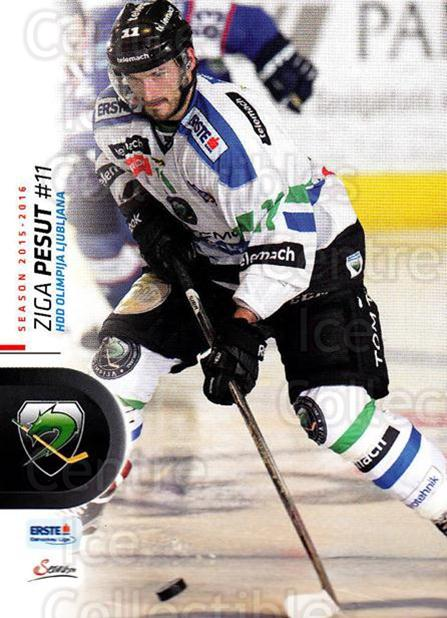 2015-16 Erste Bank Eishockey Liga EBEL #174 Ziga Pesut<br/>3 In Stock - $2.00 each - <a href=https://centericecollectibles.foxycart.com/cart?name=2015-16%20Erste%20Bank%20Eishockey%20Liga%20EBEL%20%23174%20Ziga%20Pesut...&quantity_max=3&price=$2.00&code=664666 class=foxycart> Buy it now! </a>