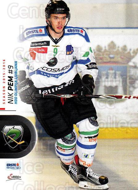 2015-16 Erste Bank Eishockey Liga EBEL #175 Nik Pem<br/>2 In Stock - $2.00 each - <a href=https://centericecollectibles.foxycart.com/cart?name=2015-16%20Erste%20Bank%20Eishockey%20Liga%20EBEL%20%23175%20Nik%20Pem...&quantity_max=2&price=$2.00&code=664667 class=foxycart> Buy it now! </a>