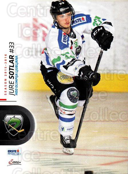 2015-16 Erste Bank Eishockey Liga EBEL #177 Jure Sotlar<br/>3 In Stock - $2.00 each - <a href=https://centericecollectibles.foxycart.com/cart?name=2015-16%20Erste%20Bank%20Eishockey%20Liga%20EBEL%20%23177%20Jure%20Sotlar...&quantity_max=3&price=$2.00&code=664669 class=foxycart> Buy it now! </a>