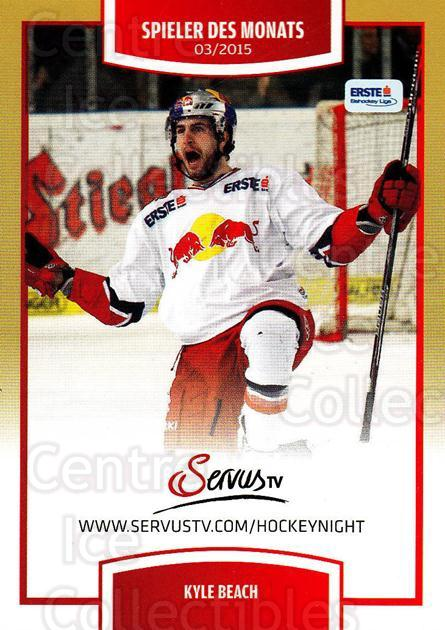 2015-16 Erste Bank Eishockey Liga EBEL #188 Kyle Beach<br/>1 In Stock - $2.00 each - <a href=https://centericecollectibles.foxycart.com/cart?name=2015-16%20Erste%20Bank%20Eishockey%20Liga%20EBEL%20%23188%20Kyle%20Beach...&quantity_max=1&price=$2.00&code=664680 class=foxycart> Buy it now! </a>