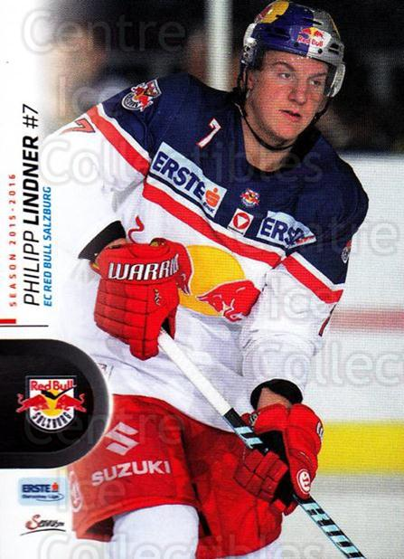 2015-16 Erste Bank Eishockey Liga EBEL #191 Philipp Lindner<br/>3 In Stock - $2.00 each - <a href=https://centericecollectibles.foxycart.com/cart?name=2015-16%20Erste%20Bank%20Eishockey%20Liga%20EBEL%20%23191%20Philipp%20Lindner...&quantity_max=3&price=$2.00&code=664683 class=foxycart> Buy it now! </a>