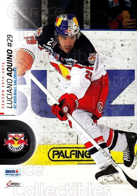 2015-16 Erste Bank Eishockey Liga EBEL #198 Luciano Aquino<br/>1 In Stock - $2.00 each - <a href=https://centericecollectibles.foxycart.com/cart?name=2015-16%20Erste%20Bank%20Eishockey%20Liga%20EBEL%20%23198%20Luciano%20Aquino...&quantity_max=1&price=$2.00&code=664690 class=foxycart> Buy it now! </a>