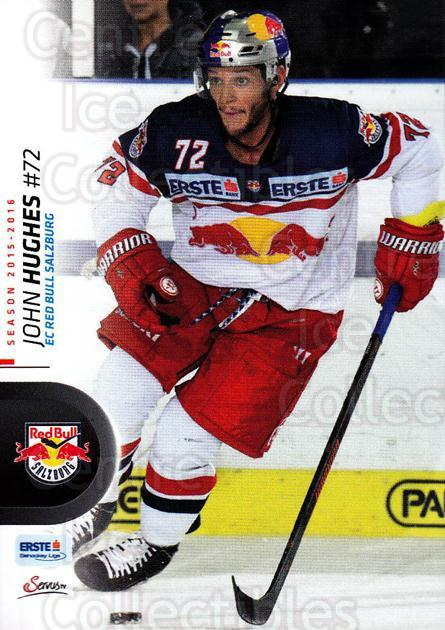 2015-16 Erste Bank Eishockey Liga EBEL #199 John Hughes<br/>3 In Stock - $2.00 each - <a href=https://centericecollectibles.foxycart.com/cart?name=2015-16%20Erste%20Bank%20Eishockey%20Liga%20EBEL%20%23199%20John%20Hughes...&quantity_max=3&price=$2.00&code=664691 class=foxycart> Buy it now! </a>