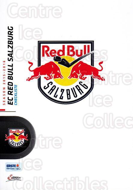 2015-16 Erste Bank Eishockey Liga EBEL #202 EC Red Bull Salzburg, Checklist<br/>3 In Stock - $2.00 each - <a href=https://centericecollectibles.foxycart.com/cart?name=2015-16%20Erste%20Bank%20Eishockey%20Liga%20EBEL%20%23202%20EC%20Red%20Bull%20Sal...&quantity_max=3&price=$2.00&code=664694 class=foxycart> Buy it now! </a>