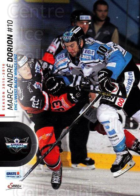 2015-16 Erste Bank Eishockey Liga EBEL #221 Marc-andre Dorion<br/>3 In Stock - $2.00 each - <a href=https://centericecollectibles.foxycart.com/cart?name=2015-16%20Erste%20Bank%20Eishockey%20Liga%20EBEL%20%23221%20Marc-andre%20Dori...&quantity_max=3&price=$2.00&code=664713 class=foxycart> Buy it now! </a>