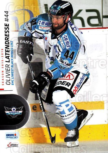 2015-16 Erste Bank Eishockey Liga EBEL #231 Olivier Latendresse<br/>2 In Stock - $2.00 each - <a href=https://centericecollectibles.foxycart.com/cart?name=2015-16%20Erste%20Bank%20Eishockey%20Liga%20EBEL%20%23231%20Olivier%20Latendr...&quantity_max=2&price=$2.00&code=664723 class=foxycart> Buy it now! </a>