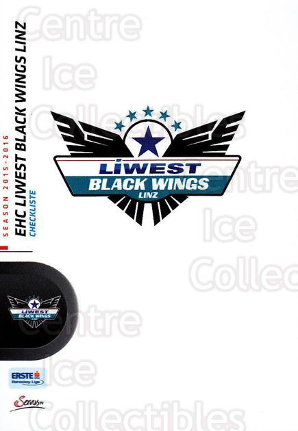 2015-16 Erste Bank Eishockey Liga EBEL #233 EHC Liwest Black Wings Linz, Checklist<br/>3 In Stock - $2.00 each - <a href=https://centericecollectibles.foxycart.com/cart?name=2015-16%20Erste%20Bank%20Eishockey%20Liga%20EBEL%20%23233%20EHC%20Liwest%20Blac...&quantity_max=3&price=$2.00&code=664725 class=foxycart> Buy it now! </a>