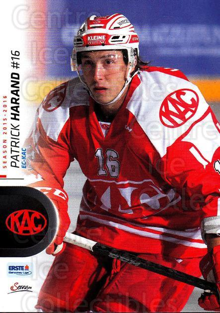 2015-16 Erste Bank Eishockey Liga EBEL #240 Patrick Harand<br/>2 In Stock - $2.00 each - <a href=https://centericecollectibles.foxycart.com/cart?name=2015-16%20Erste%20Bank%20Eishockey%20Liga%20EBEL%20%23240%20Patrick%20Harand...&quantity_max=2&price=$2.00&code=664732 class=foxycart> Buy it now! </a>