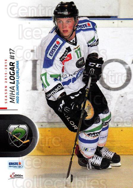 2015-16 Erste Bank Eishockey Liga EBEL #350 Miha Logar<br/>3 In Stock - $2.00 each - <a href=https://centericecollectibles.foxycart.com/cart?name=2015-16%20Erste%20Bank%20Eishockey%20Liga%20EBEL%20%23350%20Miha%20Logar...&quantity_max=3&price=$2.00&code=664842 class=foxycart> Buy it now! </a>