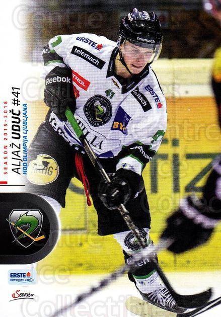 2015-16 Erste Bank Eishockey Liga EBEL #353 Aljaz Uduc<br/>1 In Stock - $2.00 each - <a href=https://centericecollectibles.foxycart.com/cart?name=2015-16%20Erste%20Bank%20Eishockey%20Liga%20EBEL%20%23353%20Aljaz%20Uduc...&quantity_max=1&price=$2.00&code=664845 class=foxycart> Buy it now! </a>