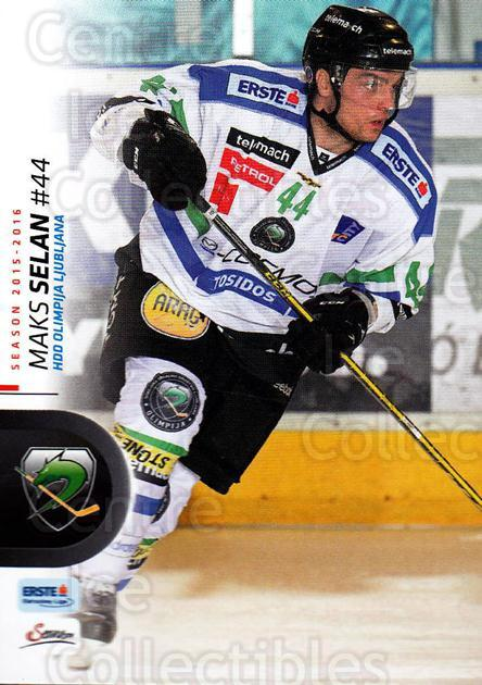 2015-16 Erste Bank Eishockey Liga EBEL #354 Selan Maks<br/>1 In Stock - $2.00 each - <a href=https://centericecollectibles.foxycart.com/cart?name=2015-16%20Erste%20Bank%20Eishockey%20Liga%20EBEL%20%23354%20Selan%20Maks...&quantity_max=1&price=$2.00&code=664846 class=foxycart> Buy it now! </a>