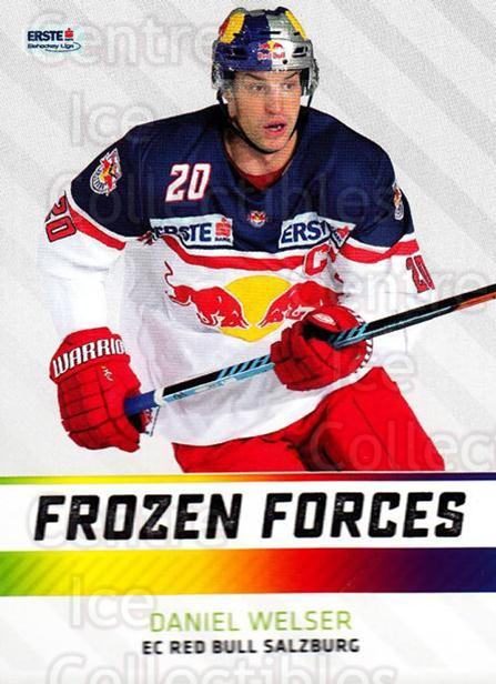 2015-16 Erste Bank Eishockey Liga EBEL Frozen Forces #1 Daniel Welser<br/>2 In Stock - $3.00 each - <a href=https://centericecollectibles.foxycart.com/cart?name=2015-16%20Erste%20Bank%20Eishockey%20Liga%20EBEL%20Frozen%20Forces%20%231%20Daniel%20Welser...&quantity_max=2&price=$3.00&code=664881 class=foxycart> Buy it now! </a>