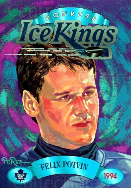 1993-94 Donruss Ice Kings #6 Felix Potvin<br/>11 In Stock - $3.00 each - <a href=https://centericecollectibles.foxycart.com/cart?name=1993-94%20Donruss%20Ice%20Kings%20%236%20Felix%20Potvin...&quantity_max=11&price=$3.00&code=6648 class=foxycart> Buy it now! </a>