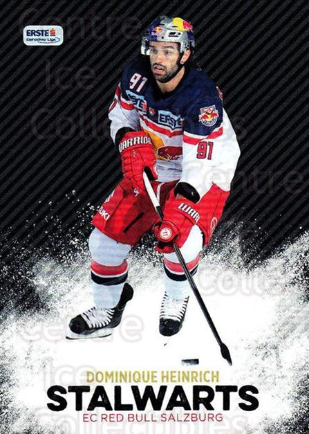 2015-16 Erste Bank Eishockey Liga EBEL Stalwarts #1 Dominique Heinrich<br/>1 In Stock - $3.00 each - <a href=https://centericecollectibles.foxycart.com/cart?name=2015-16%20Erste%20Bank%20Eishockey%20Liga%20EBEL%20Stalwarts%20%231%20Dominique%20Heinr...&quantity_max=1&price=$3.00&code=664905 class=foxycart> Buy it now! </a>