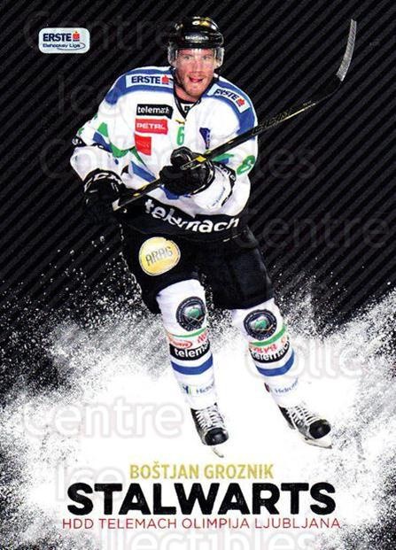 2015-16 Erste Bank Eishockey Liga EBEL Stalwarts #12 Bostjan Groznik<br/>1 In Stock - $3.00 each - <a href=https://centericecollectibles.foxycart.com/cart?name=2015-16%20Erste%20Bank%20Eishockey%20Liga%20EBEL%20Stalwarts%20%2312%20Bostjan%20Groznik...&quantity_max=1&price=$3.00&code=664916 class=foxycart> Buy it now! </a>