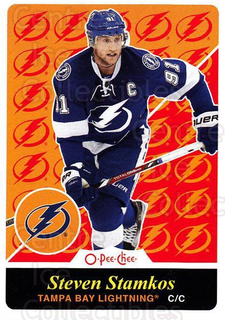 2015-16 O-Pee-chee Box Bottoms #12 Steven Stamkos<br/>1 In Stock - $3.00 each - <a href=https://centericecollectibles.foxycart.com/cart?name=2015-16%20O-Pee-chee%20Box%20Bottoms%20%2312%20Steven%20Stamkos...&price=$3.00&code=665056 class=foxycart> Buy it now! </a>